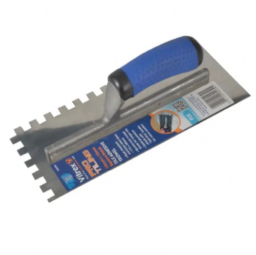 "Vitrex 102909 Stainless Steel 10mm Square Notched Adhesive Trowel 11"" x 4½"""
